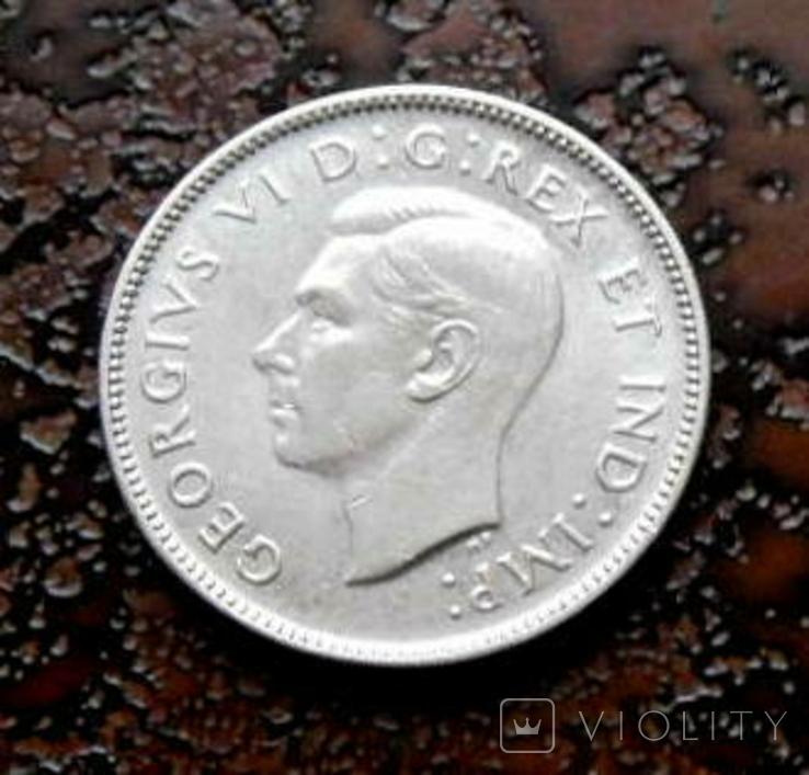 25 центов Канада 1943 состояние серебро, фото №4