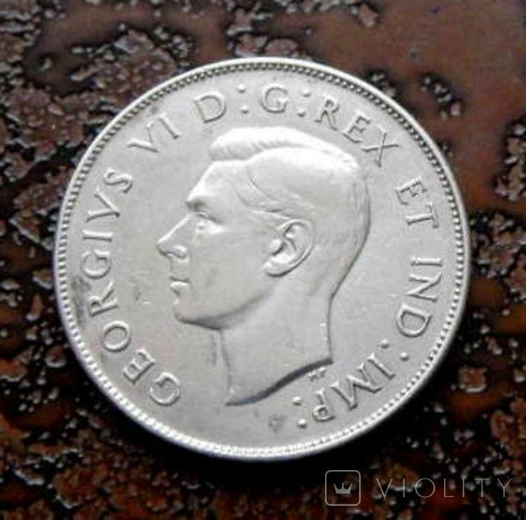 50 центов Канада 1946 состояние серебро, фото №4
