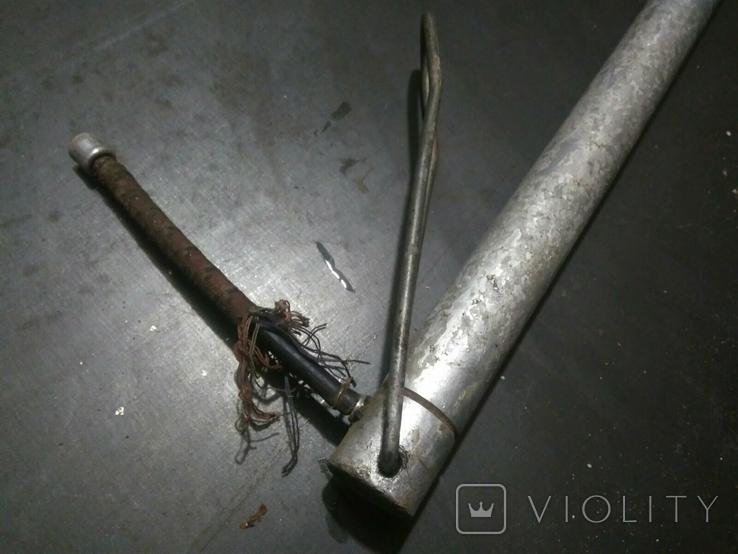 Насос алюминиевый велосипедный с упором и шлангом СССР, фото №3