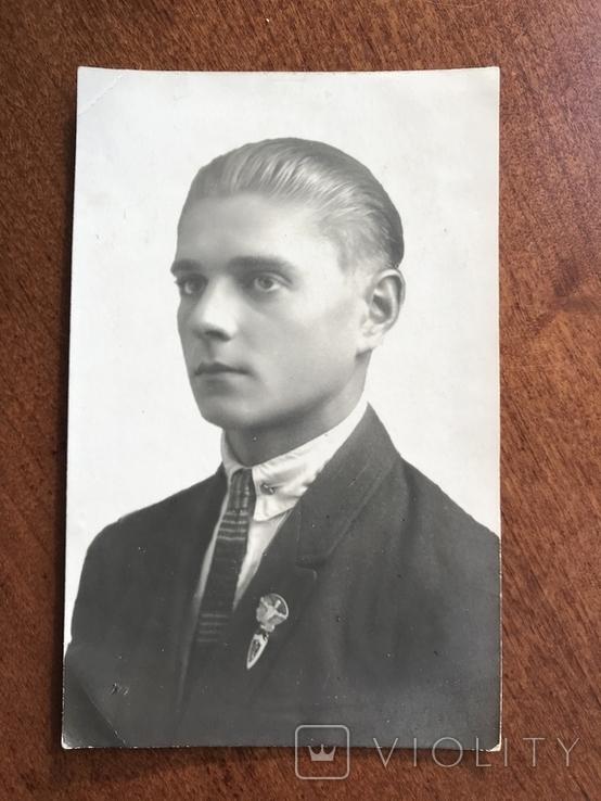1927 Парень в галстуке Знак, фото №2
