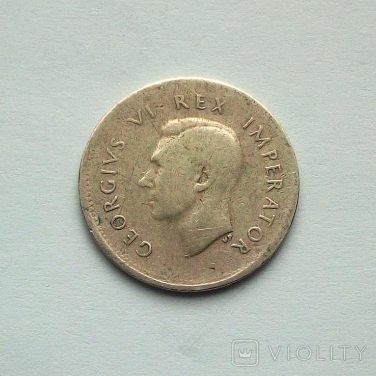 Британская Южная Африка 3 пенса 1941 г., фото №4