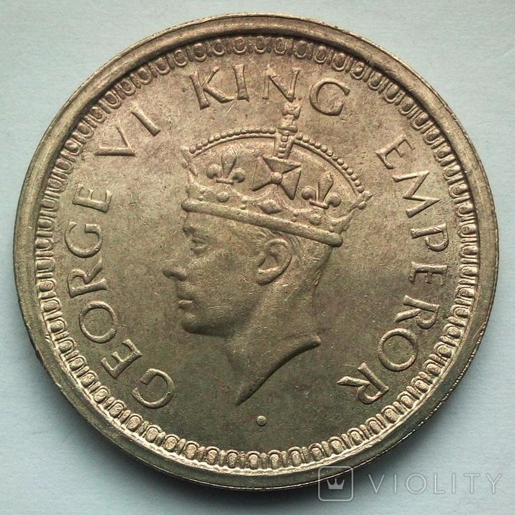 Британская Индия 1 рупия 1945 г., фото №4
