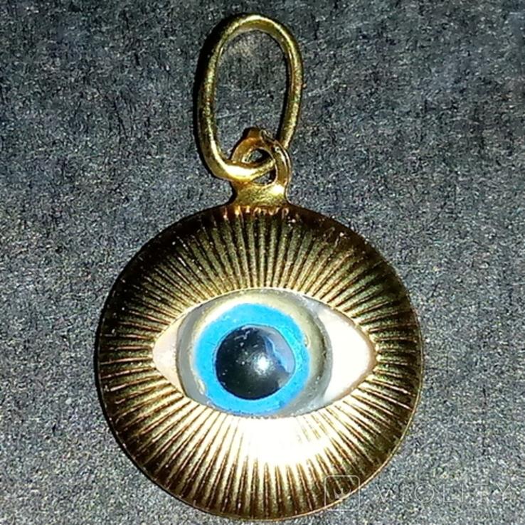 Кулон Глаз из золота 14K., фото №2