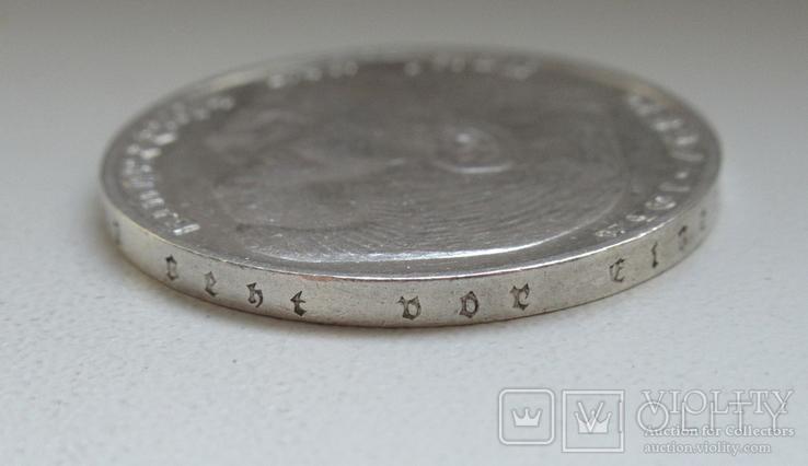 2 марки 1938 г. (G) Третий рейх, серебро, фото №12