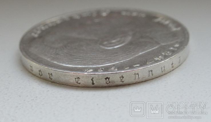 2 марки 1938 г. (G) Третий рейх, серебро, фото №13