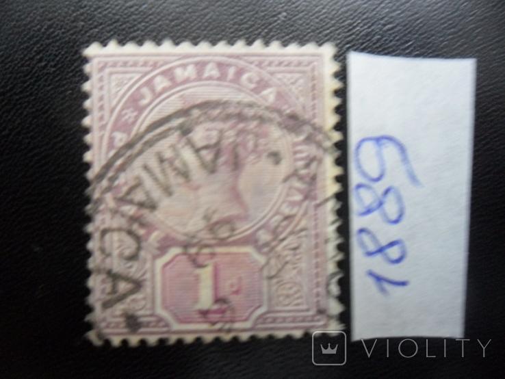 Британские колонии. Ямайка. 1889 г. Виктория. гаш