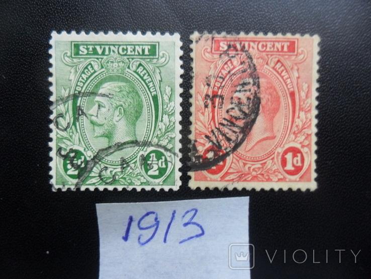 Британские колонии. Сент-Винсент. 1913 г. гаш