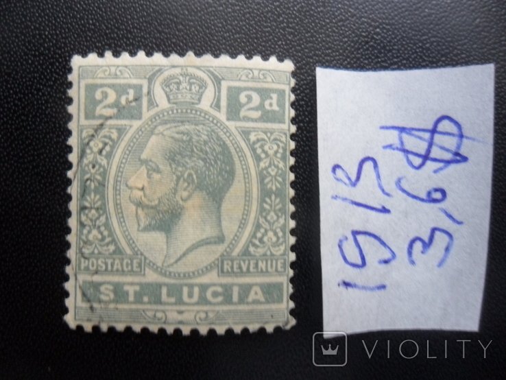 Британские колонии. Сент-Люсия. 1913 г. гаш
