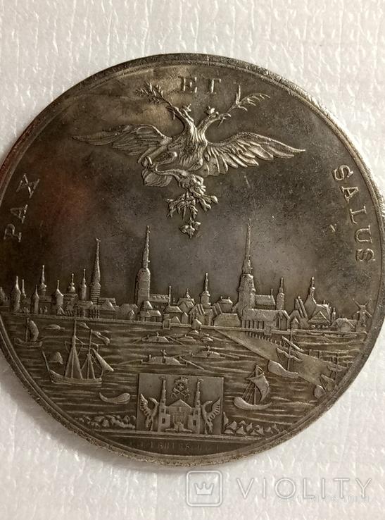 Медаль 1810 года. В память 100-летия присоединения Риги к России v7 копия, фото №2