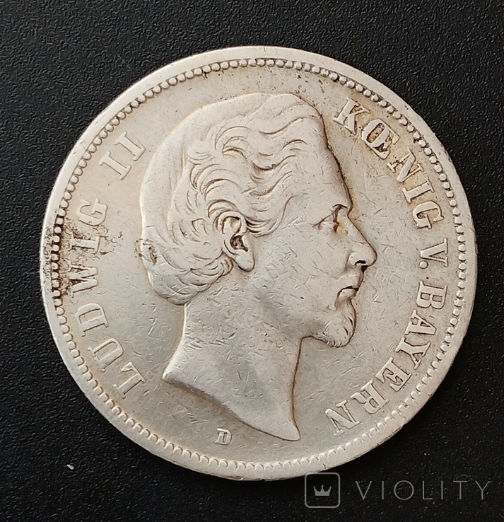5 марок 1874 р. Баварія, фото №2