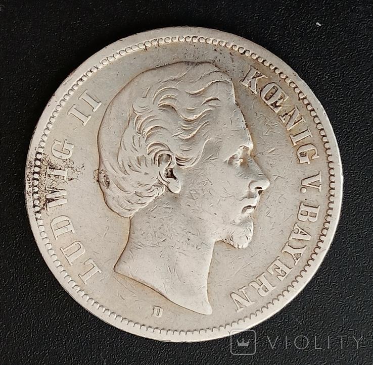 5 марок 1874 р. Баварія, фото №3