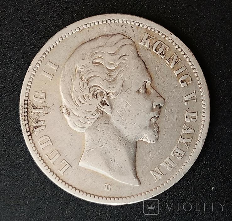 5 марок 1874 р. Баварія, фото №4