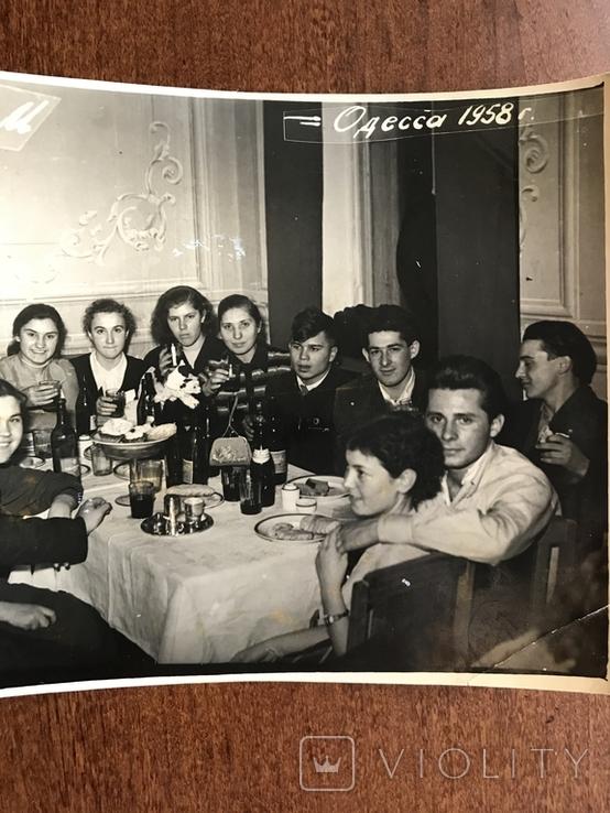 1958 Одесса Новый Год Вино Сладкая вода Бутылки Стаканы, фото №4