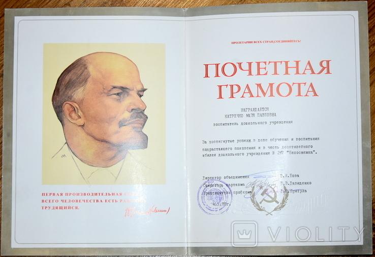 Почетная грамота Грамота за достигнутые успехи в деле обучения, фото №3