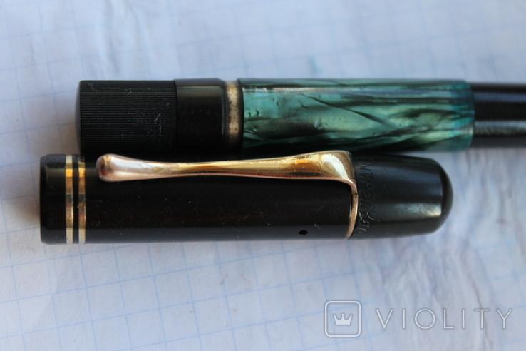 Ручка чернильная Pelikan перо золото 14кт старая, фото №7