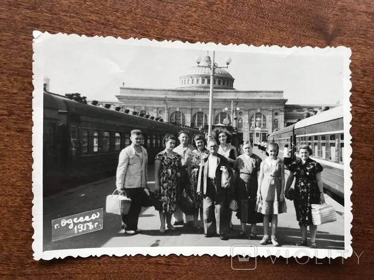 1958 Одесса Поезд Вокзал, фото №2