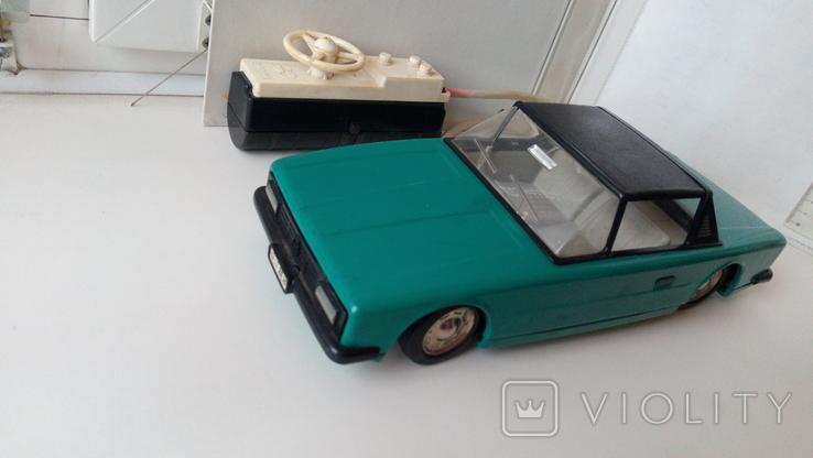 3622 автомобиль на дистанционном управлении электромеханический из СССР на батарейка, фото №2
