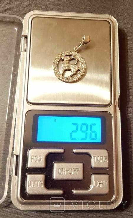 Кулон с камушками серебро 925 пробы, фото №9