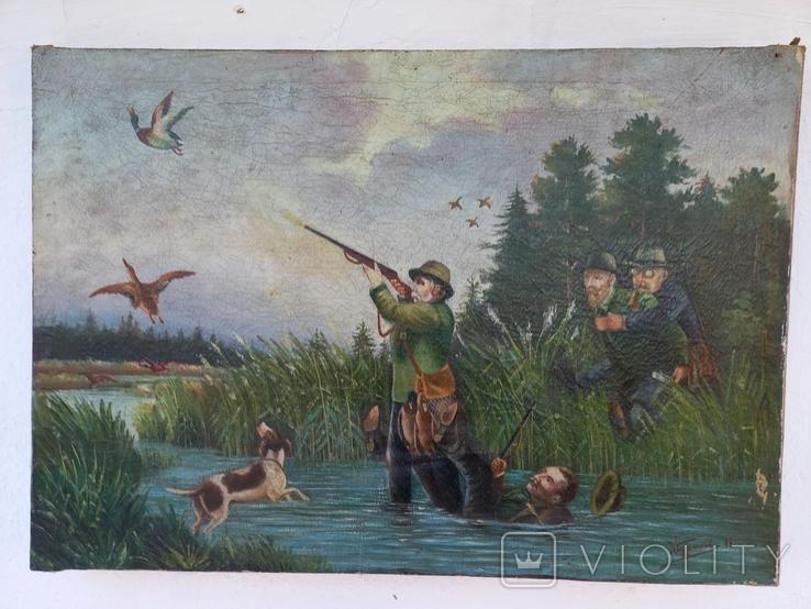 И . Бурлаков На охоте 1947 год, фото №2