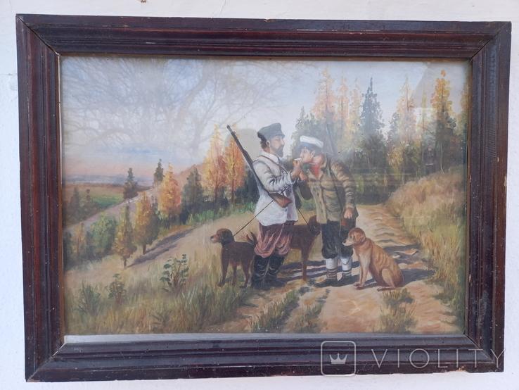 Картина Перекур на охоте, фото №2