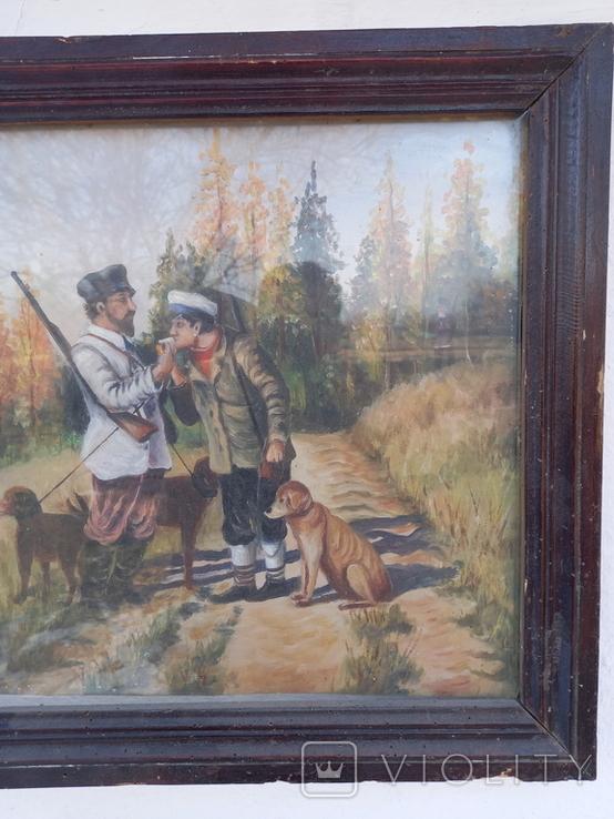 Картина Перекур на охоте, фото №4