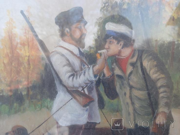 Картина Перекур на охоте, фото №5
