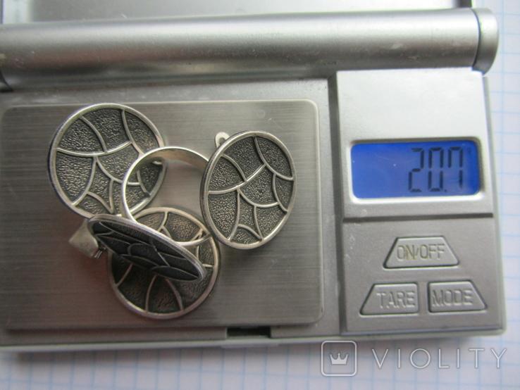 Набор. Серьги, кольцо, кулон., фото №3