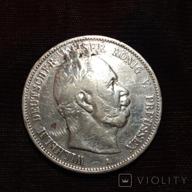 5 марок 1875 Вильгельм, фото №2