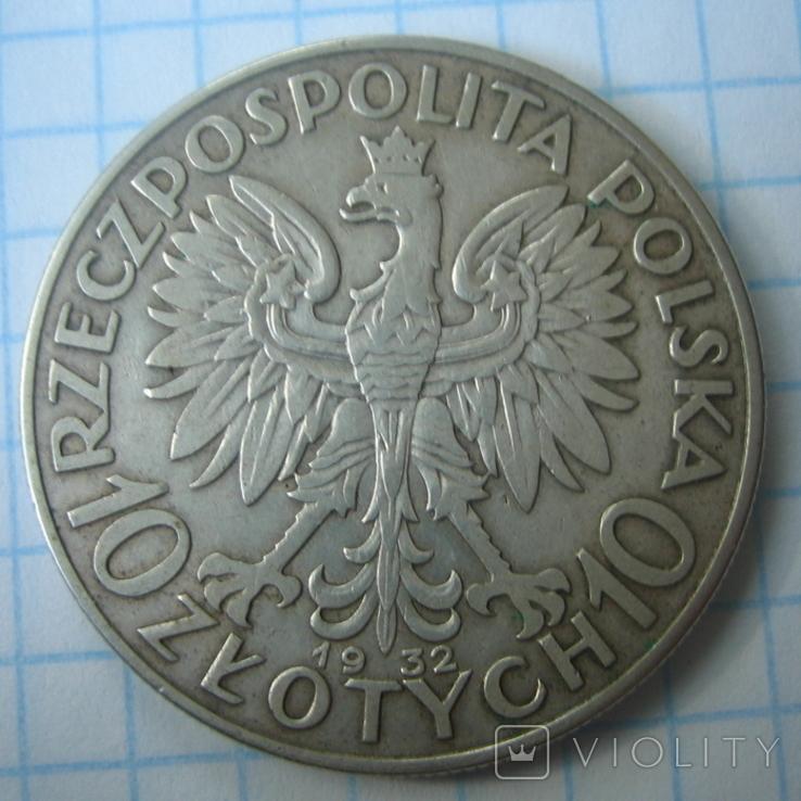 Польша 10 злотых 1932 года.Ядвига., фото №4