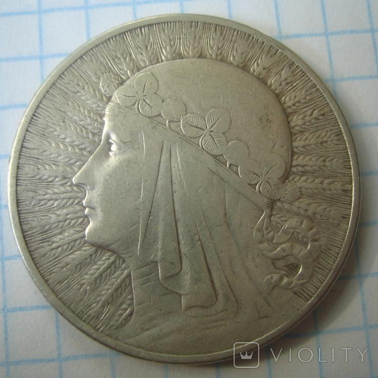 Польша 10 злотых 1932 года.Ядвига., фото №8