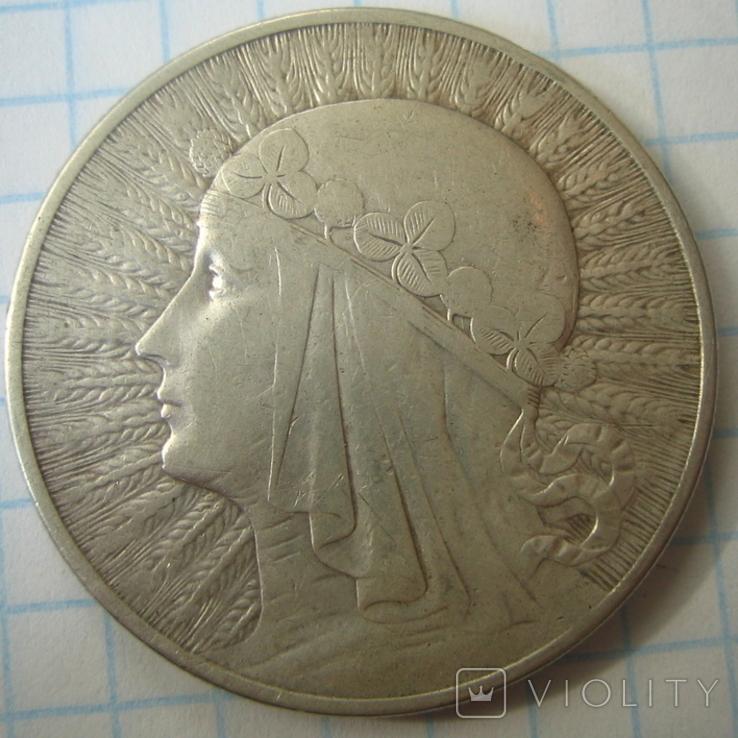 Польша 10 злотых 1932 года.Ядвига., фото №11
