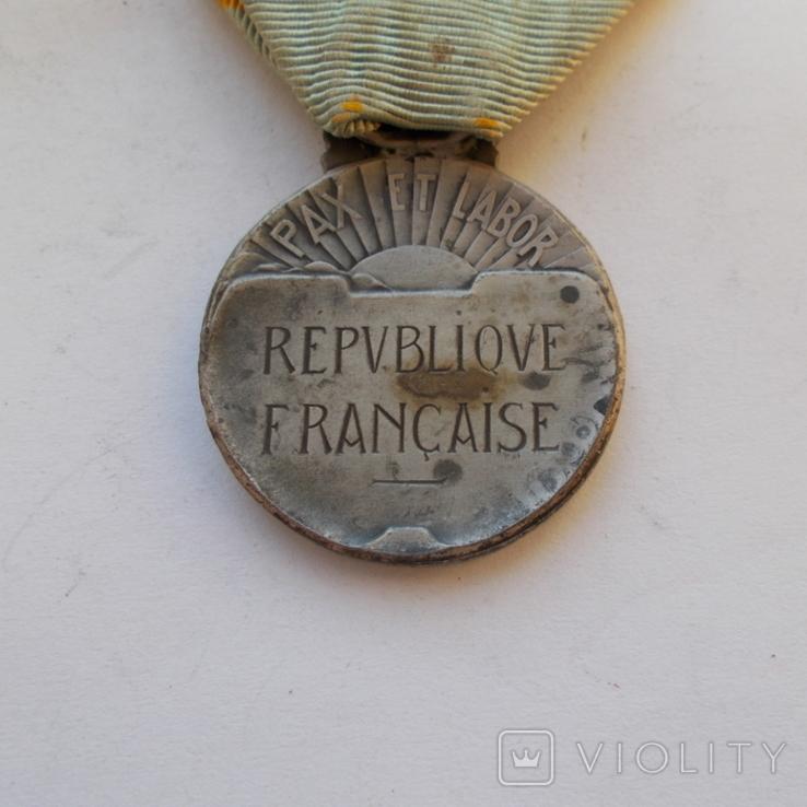 """Франция. Почетная медаль """"За спортивные заслуги""""., фото №4"""