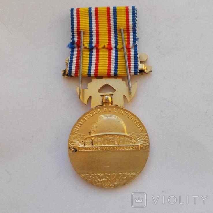 Франция. Медаль пожарных. 1 ст. образца 1935 г., фото №3