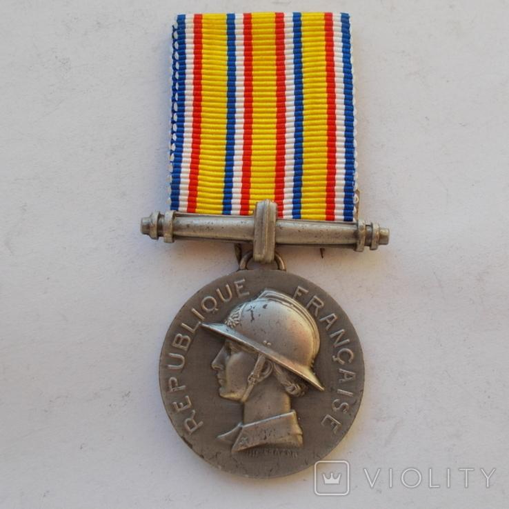 Франция. Медаль пожарных. 2 ст. образца 1935 г., фото №2