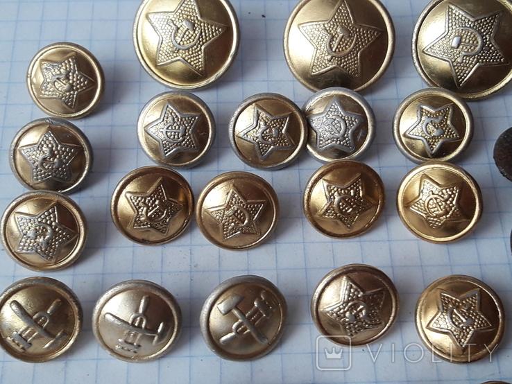 Пуговицы СА к амуниции, промвоенхоз, мосштамп разных годов, 37 шт, фото №6