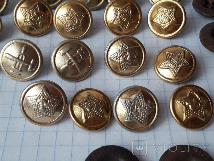 Пуговицы СА к амуниции, промвоенхоз, мосштамп разных годов, 37 шт, фото №7