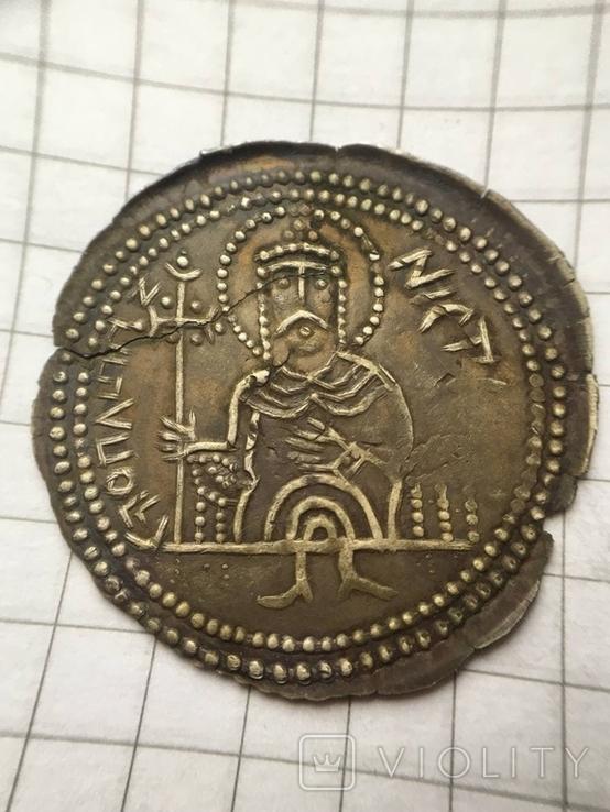Сребреник Святополк Окаянный 1015-1019гг. копия, фото №2