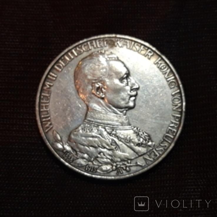3 марки 1913 Вильгельм, фото №2