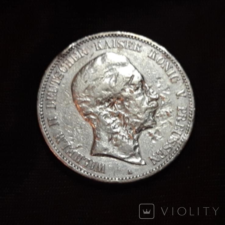 5 марок 1902 Вильгельм, фото №2