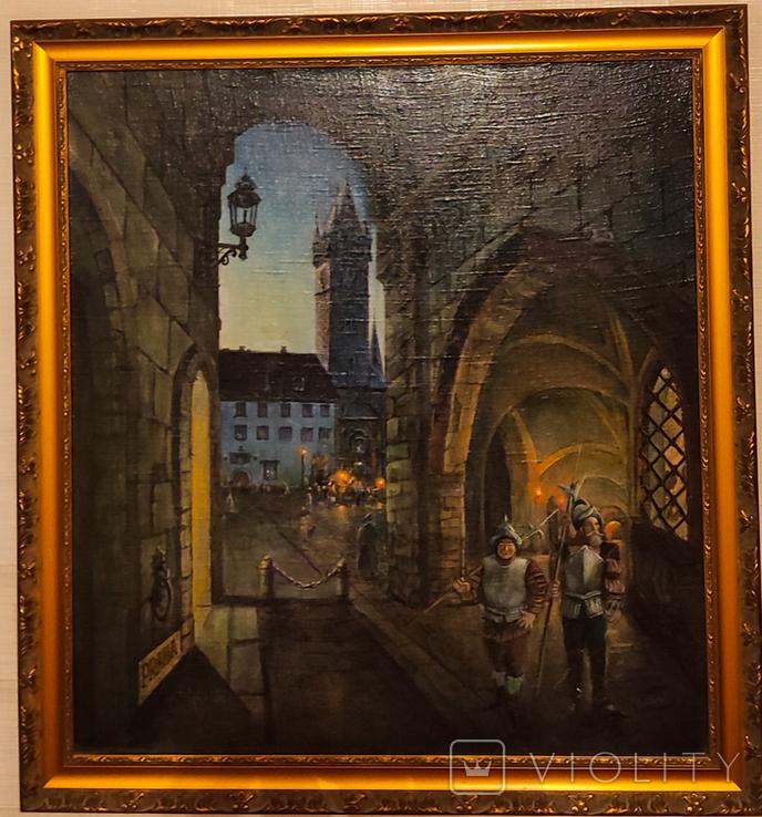 "Картина ""Старая Прага"" Ковалевского Д.А 2005 года., фото №3"