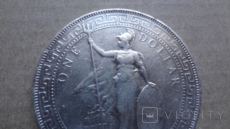 1 торговый доллар 1897 Великобритания серебро (9.11.12), фото №3