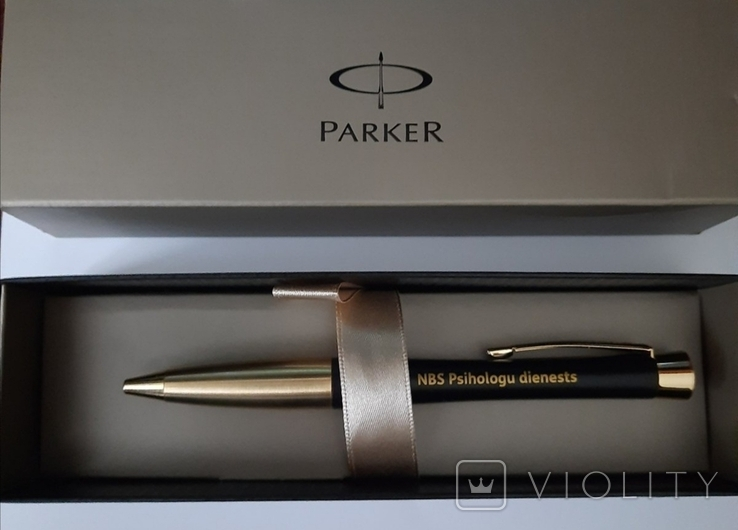 Ручка PARKER, NBS Psihologu dienests, Parker URBAN Muted Black GT, фото №2