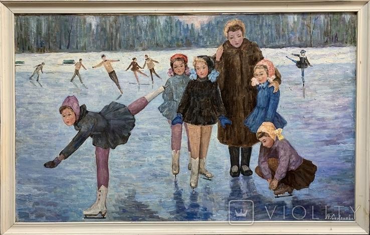 Картина СССР Тренировка на льду. Динамо, фото №3