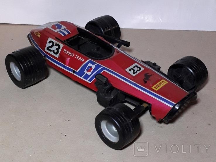 Игрушка СССР Автомобиль инерционный,болид Феррари гоночный ,длина 24 см., фото №2