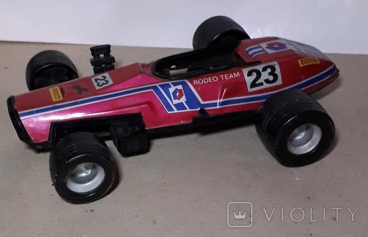 Игрушка СССР Автомобиль инерционный,болид Феррари гоночный ,длина 24 см., фото №5