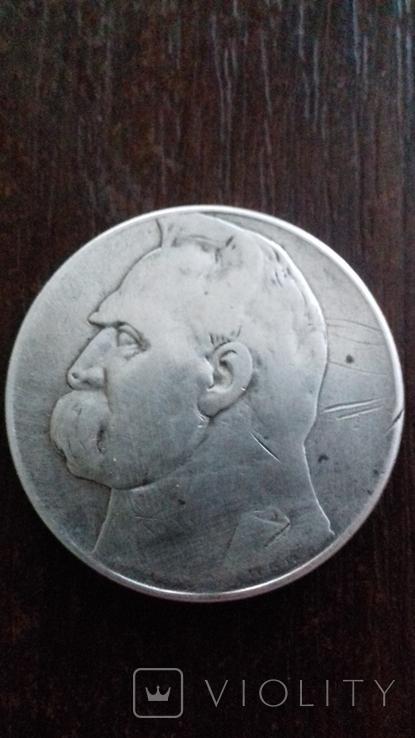 10 злотих 1935р Пілсудський, фото №2