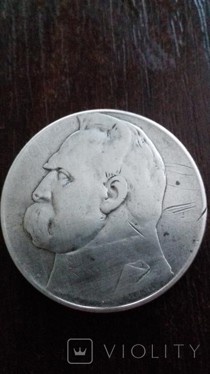 10 злотих 1935р Пілсудський, фото №4