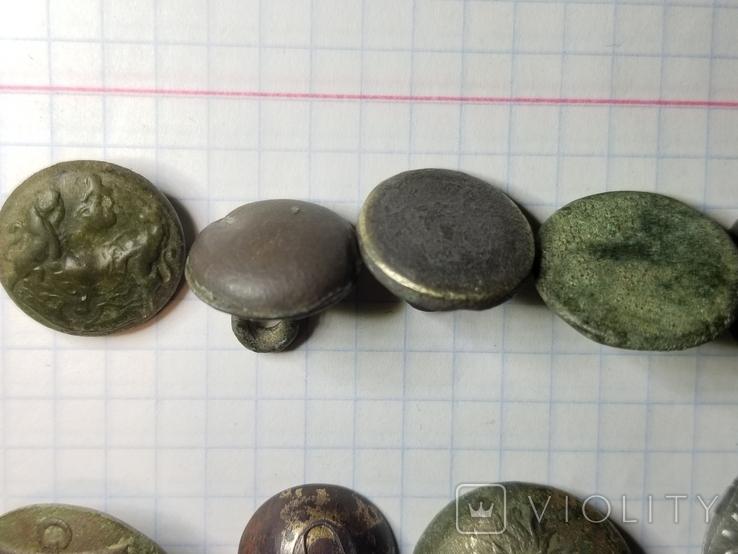 Пуговицы орел на топорах серебро, гренада, 9, якорь и др., фото №7