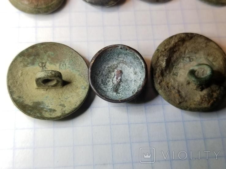 Пуговицы орел на топорах серебро, гренада, 9, якорь и др., фото №10
