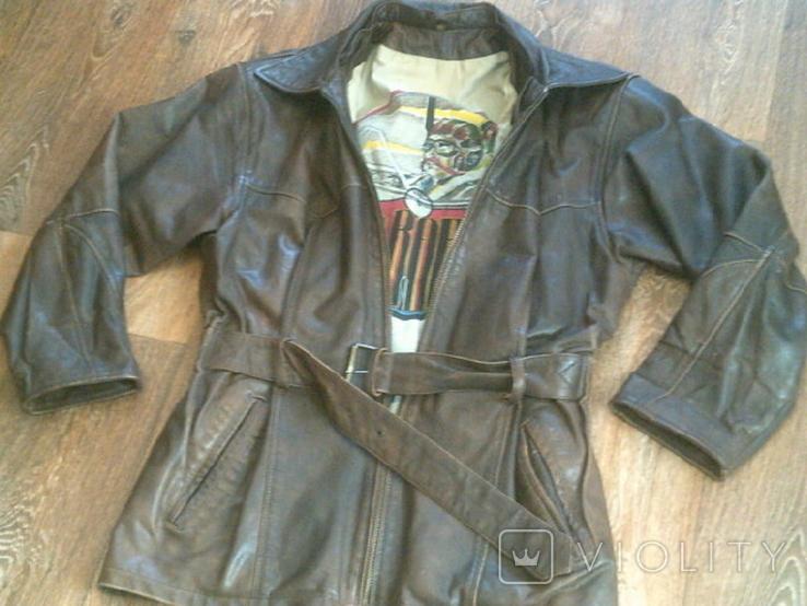 Red Baron pilot - фирменная кожаная куртка, фото №3